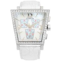 Corum Trapeze Stainless Steel Diamond MOP Dial Quartz Ladies Watch 196.404.47