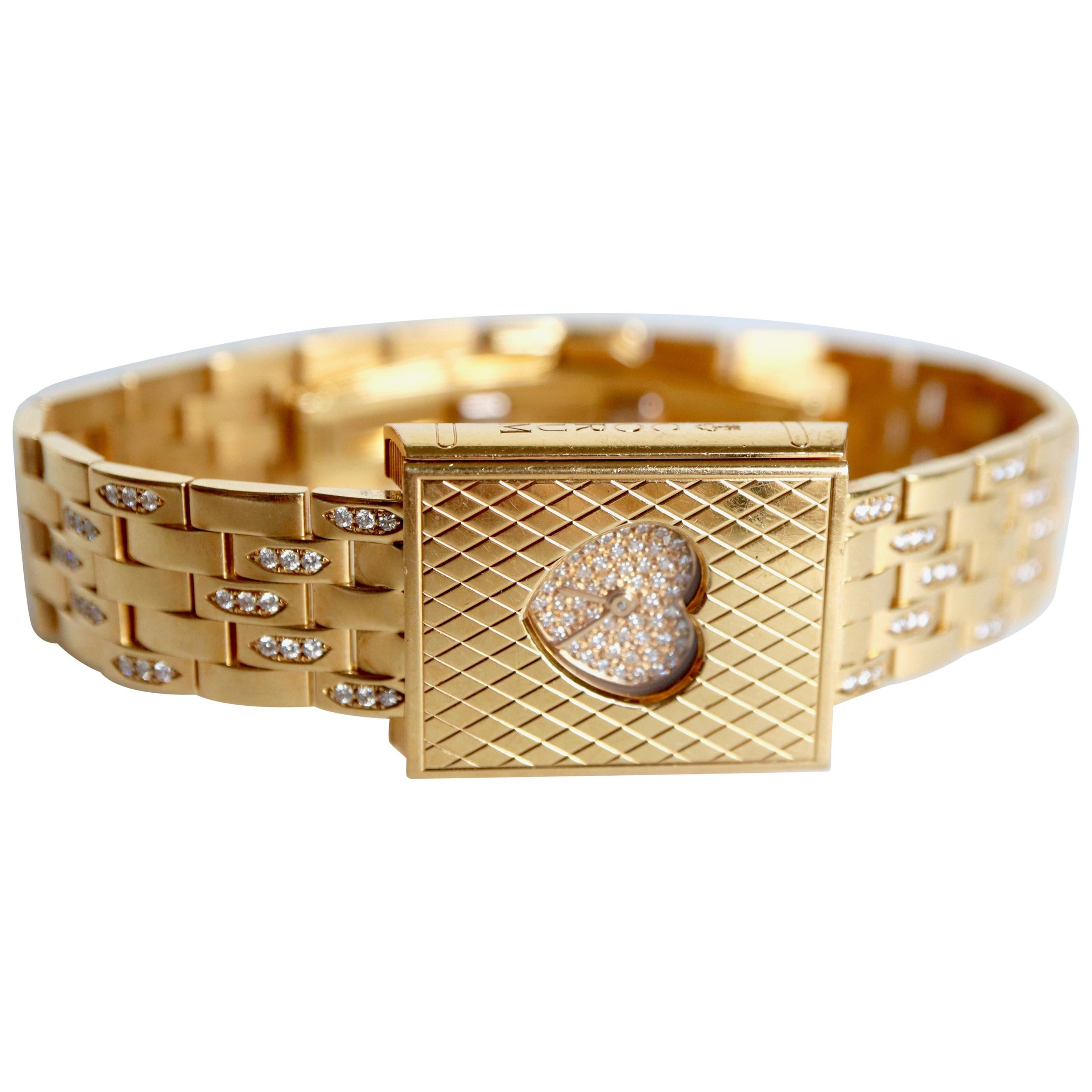 Corum Watch Love Story Model in 18K Yellow fiold Diamonds and Mother of Pearl