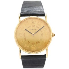 Corum Yellow Gold Astrological Zodiac Symbol Watch