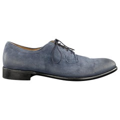 CORVARI Size 10.5 Navy Antique Suede Lace Up Dress Shoes