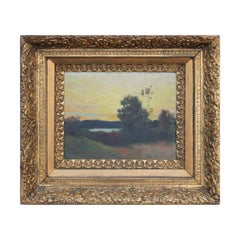 Naturalistic Pastel English River Sunrise / Sunset Landscape Oil Painting