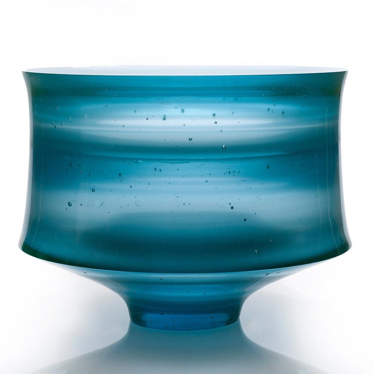 British Corymb, a Unique Aqua/Turquoise Glass Art Work and Centrepiece by Paul Stopler For Sale