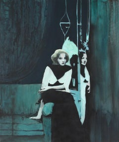 MMD, contemporary figurative painting of Marlene Dietrich