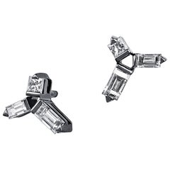 Cosmic Diamond Helix Stud Earrings