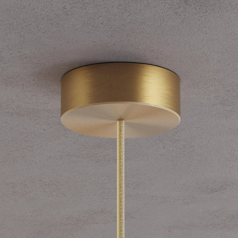 'Cosmic Ore' Chandelier, Gradient Patinated Brass Ceiling Light, Pendant For Sale 1