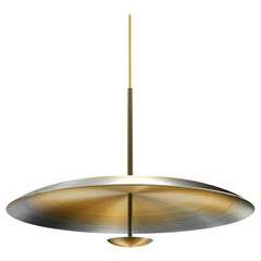 Cosmic Ore Gradient Patina Brass Pendant Light, Sample Sale Lamp