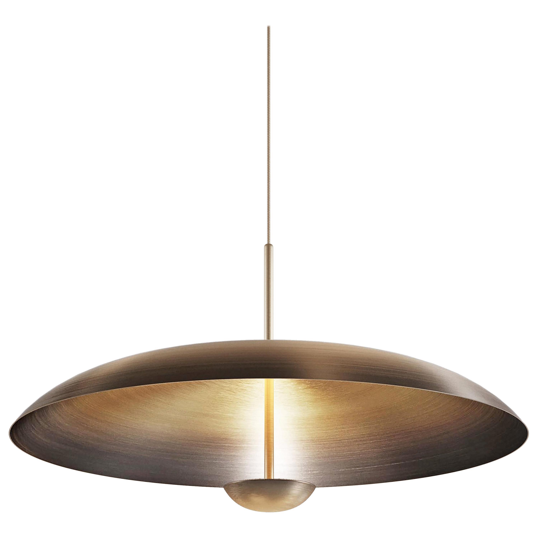 'Cosmic Ore' Pendant, Gradient Patina Bronze Brass Ceiling Lamp, Chandelier