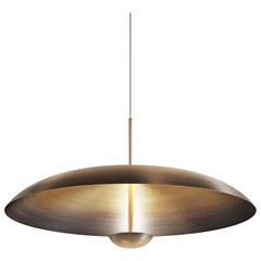 'Cosmic Ore' Pendant, Gradient Patina Bronze Brass Ceiling Lamp, Chandelier