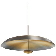 'Cosmic Ore' Pendant, Gradient Patina Bronzed Brass Ceiling Lamp