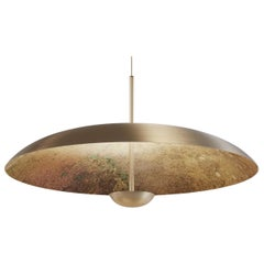 'Cosmic Oxidium' Mixed Color Patina Brass Pendant Ceiling Lamp, Chandelier