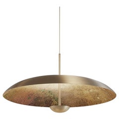 'Cosmic Oxidium' Mixed Color Patinated Brass Pendant Ceiling Lamp, Chandelier