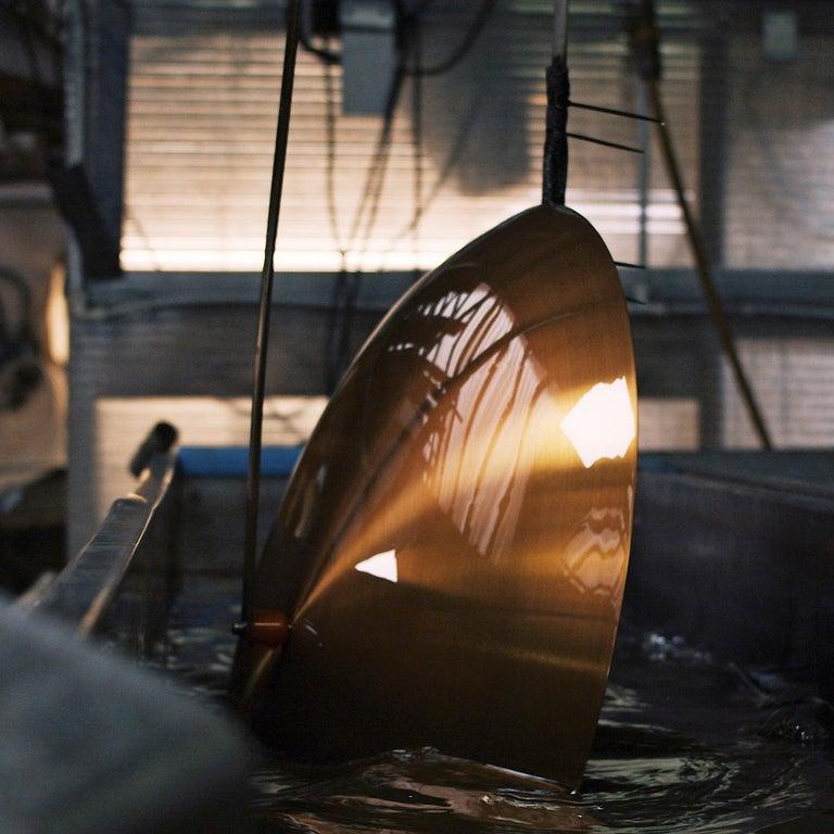 'Cosmic Solstice Noir X' Floor Lamp, Handmade Dark Bronze Patinated Floor Light For Sale 3