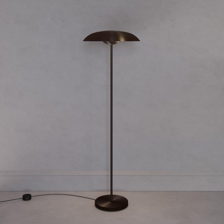 British 'Cosmic Solstice Noir X' Floor Lamp, Handmade Dark Bronze Patinated Floor Light For Sale