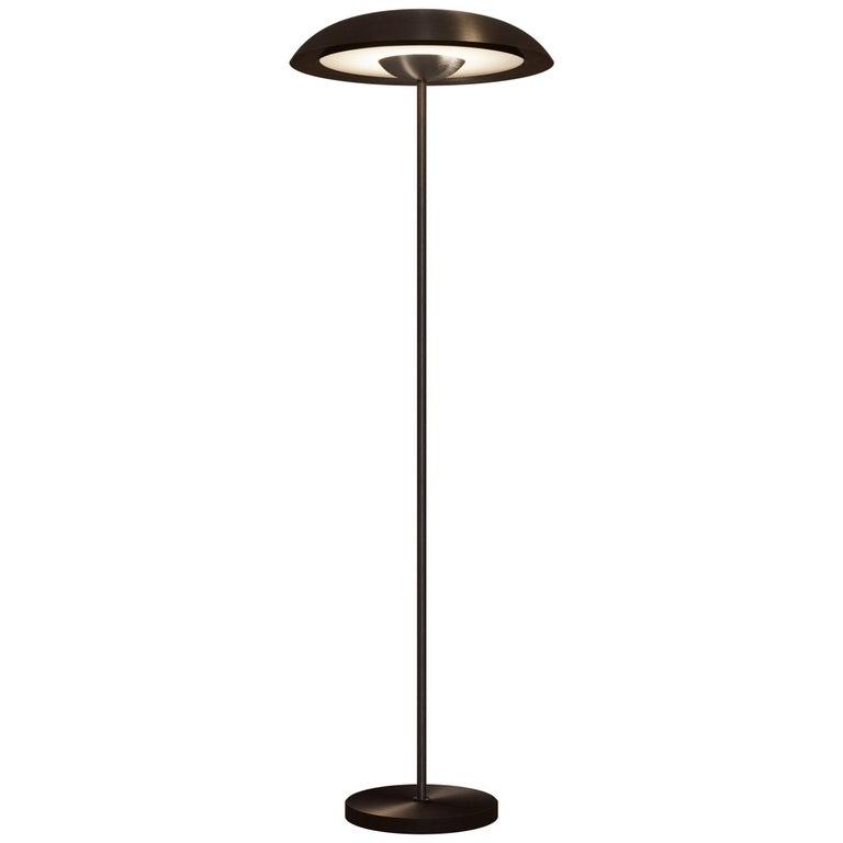 'Cosmic Solstice Noir X' Floor Lamp, Handmade Dark Bronze Patinated Floor Light For Sale