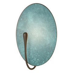 'Cosmic Verdigris' Handmade Patinated Brass Contemporary Wall Light Sconce