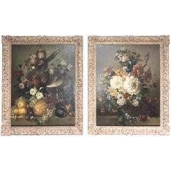 Cosmo De Salvo, Oil Paintings, Pair