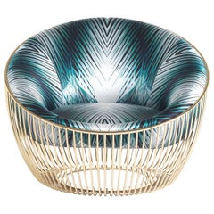 Cosmopolitan Armchair in Fabric by Roberto Cavalli Home Interiors