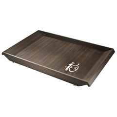 Cosmopolitan Ebony Large Tray Mother of Pearl Inlay by Giordano Viganò