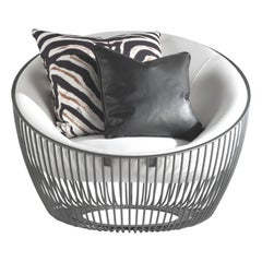Cosmopolitan Outdoor Armchair in METAL BASE and FABRIC by Roberto Cavalli