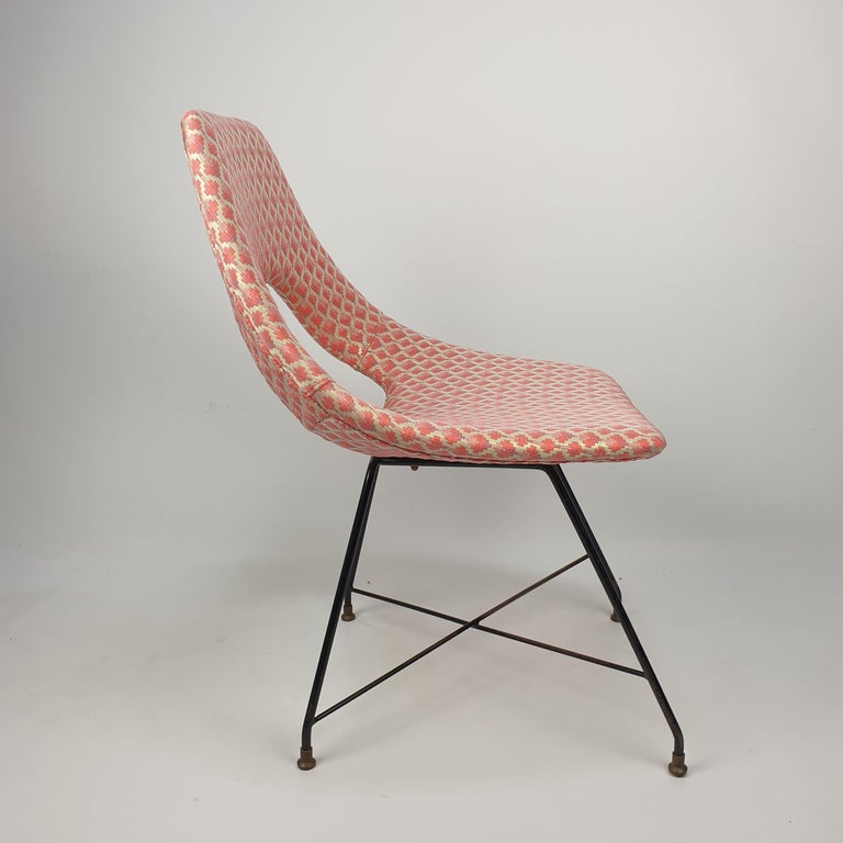 Cosmos Dining Chair by Augusto Bozzi for Saporiti Italia, 1950s In Good Condition For Sale In Oud Beijerland, NL