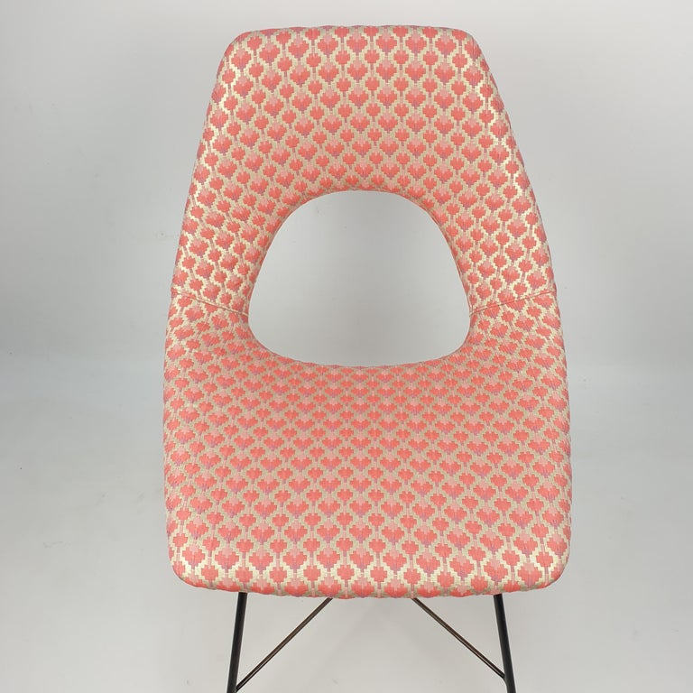Metal Cosmos Dining Chair by Augusto Bozzi for Saporiti Italia, 1950s For Sale