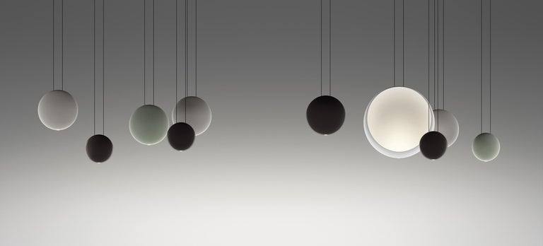 Modern Cosmos Large LED Pendant Light in Grey by Lievore, Altherr & Molina For Sale