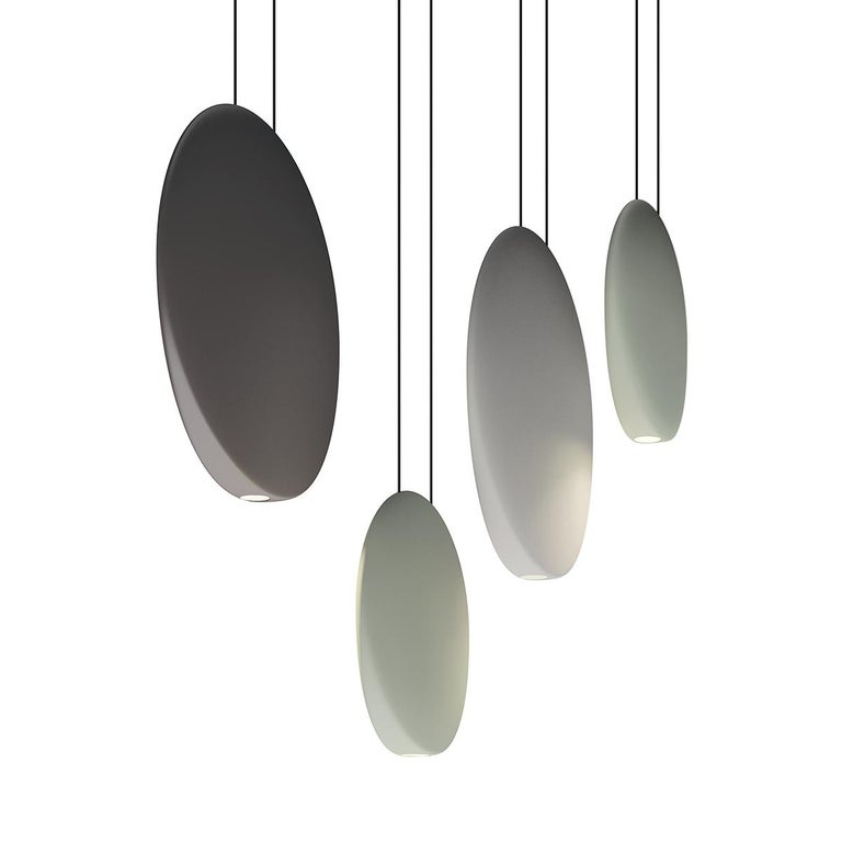 Contemporary Cosmos Large LED Pendant Light in Grey by Lievore, Altherr & Molina For Sale