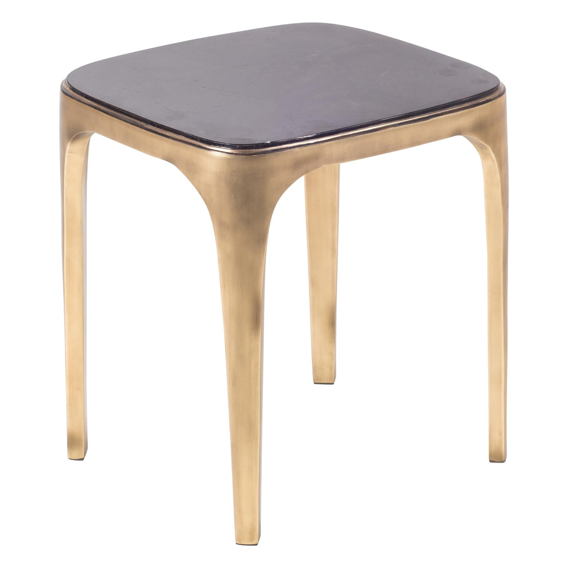 Cosmos Nesting Coffee in Table Black Shell & Bronze-Patina Brass by R&Y Augousti