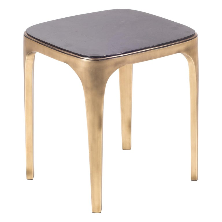Cosmos Nesting Coffee in Table Black Shell & Bronze-Patina Brass by R&Y Augousti For Sale