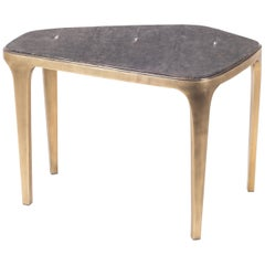 Cosmos Nesting Coffee Table Black Shagreen & Bronze-Patina Brass by R&Y Augousti