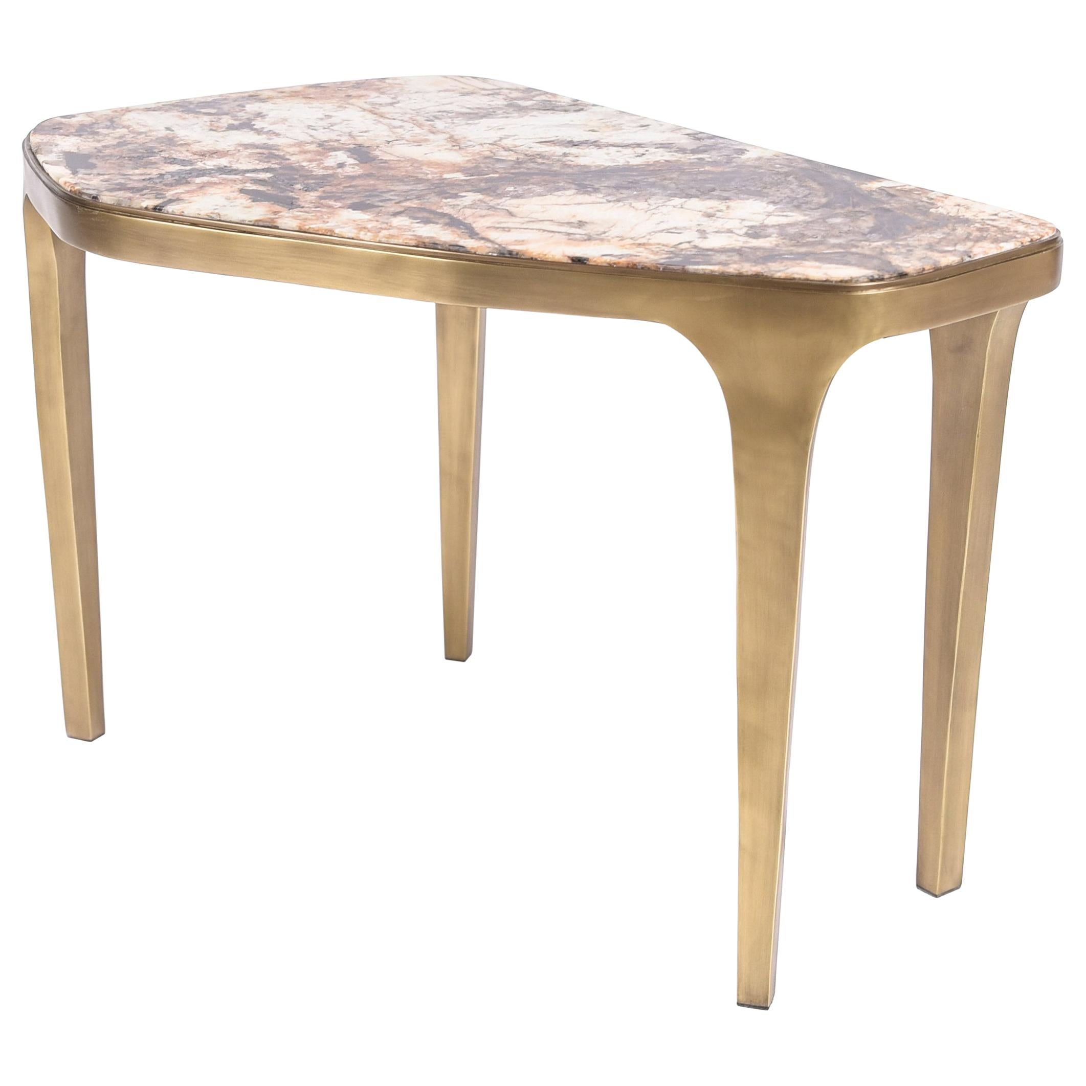 Cosmos Nesting Coffee Table Hwana Stone and Bronze-Patina Brass by R&Y Augousti