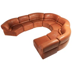 'Cosmos' Sectional Cognac Leather Sofa by De Sede, Switzerland
