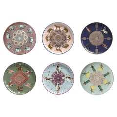 Costantinopoli by Vito Nesta for Les-Ottomans Set of 6 Dessert Plates
