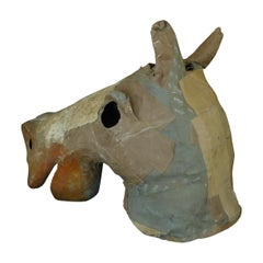 Costume Horse Head Oversize of Canvas from Atlanta Theater, circa 1930