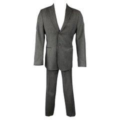CoSTUME NATIONAL Size 38 Regular Dark Gray Wool Peak Lapel Suit