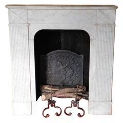 Cosy-Corner-Fireplace, Louis XVI in Carrara-Marble