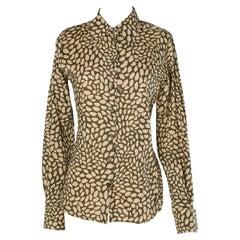"Coton shirt ""mouth"" printed Yves Saint Laurent Rive Gauche"