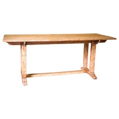 Cotswold School Arts & Crafts Light Oak Refectory Table