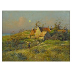 """""""Cottage by the Sea"""" Oil Painting by Georges Maroniez"""