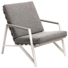 Cottage Gray Armchair with White Frame by Talenti