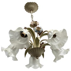 Cottage Style Shabby Chic Florence Flower and Glass Chandelier Eglo Leuchten