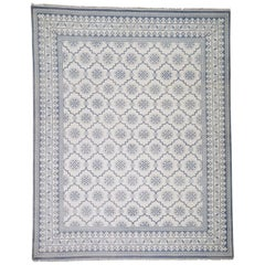 Cotton Agra Mughal Dynasty Hand Knotted Oriental Rug