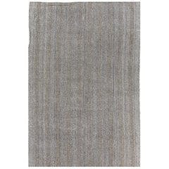 Cotton and Goat Hair Kilim Rug, Flat-Woven Floor Covering
