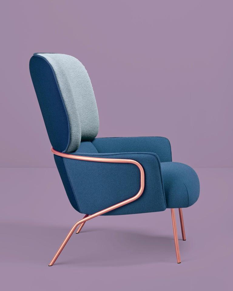 Post-Modern Cotton Armchair, Eli Gutiérrez For Sale