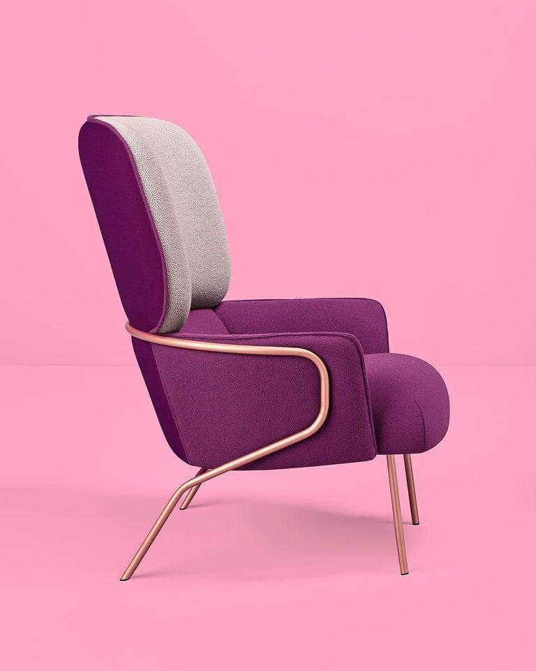 Contemporary Cotton Armchair, Eli Gutiérrez For Sale