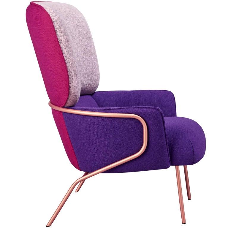 Upholstery Cotton Armchair, Eli Gutiérrez For Sale