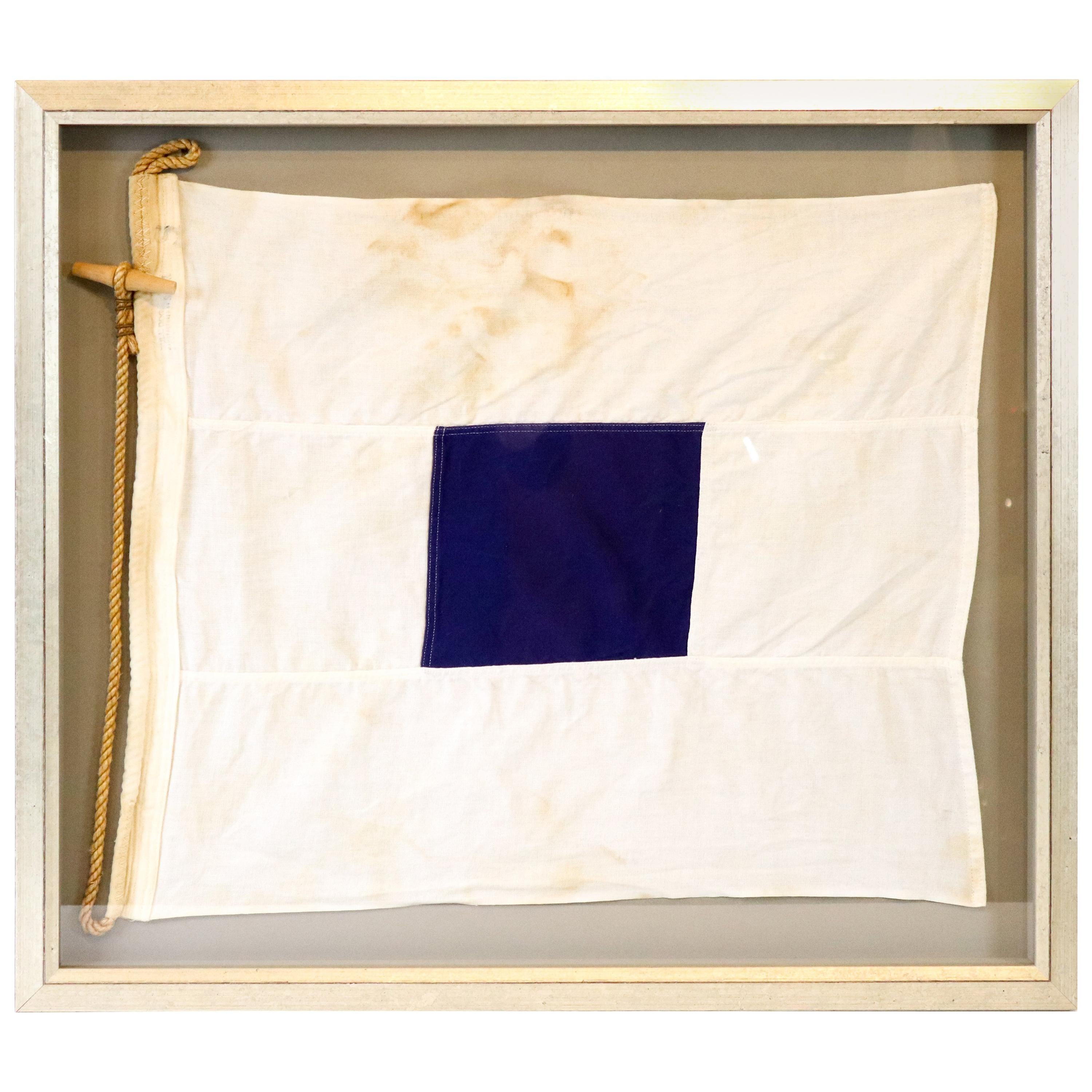 Cotton Signal Flag in Frame