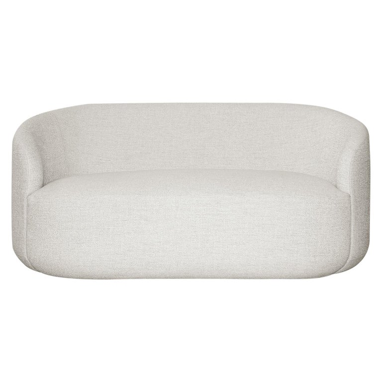 Curved Sofa Cottonflower In White