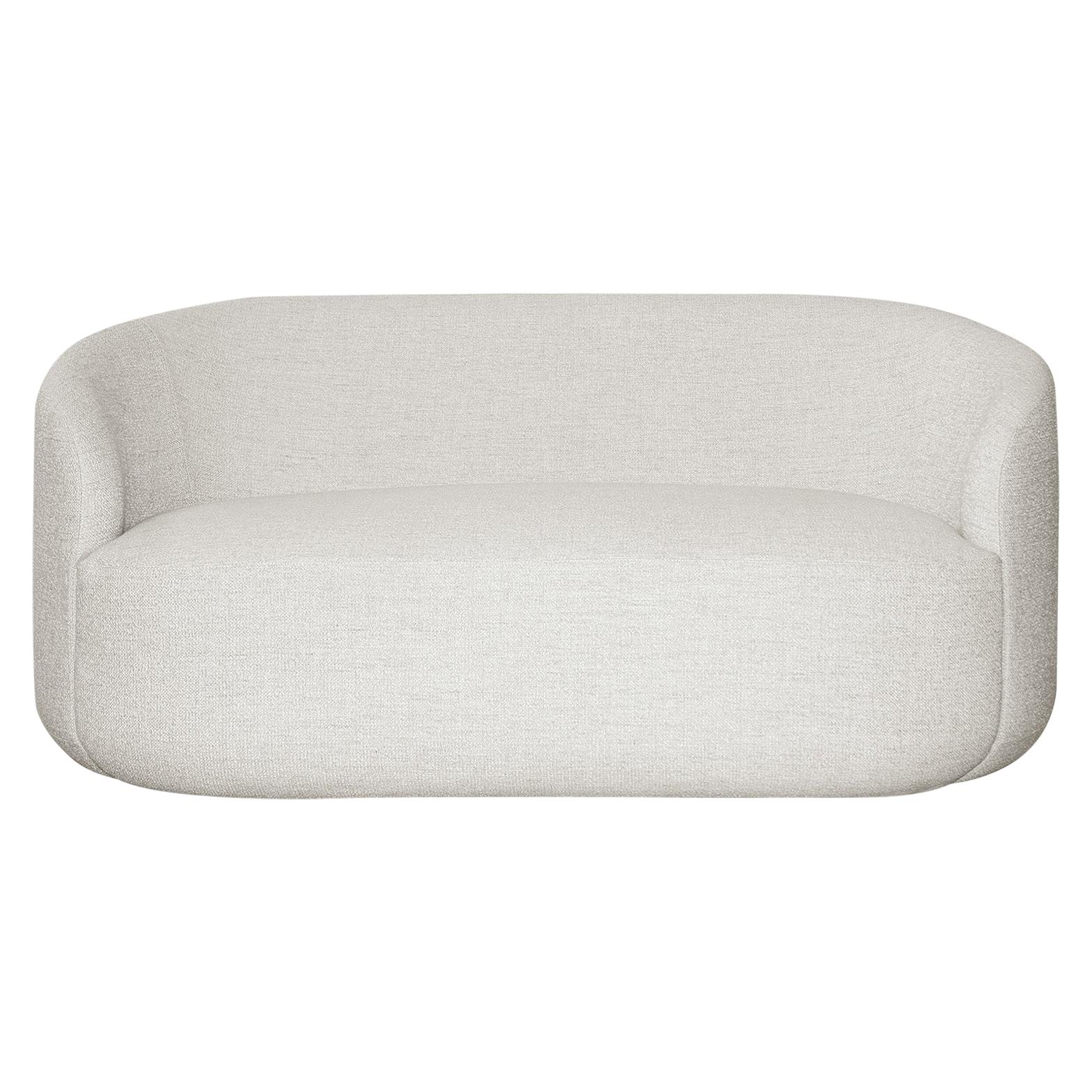 Beau Curved Sofa U0027Cottonfloweru0027 In White Fabric By KABINET