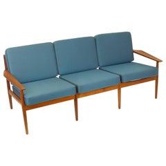 Couch 3-Seater Original Sofa by Grete Jalk Dansk Mobler Teakwood, Denmark, 1960s